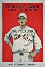 1915 Babe Ruth Cracker Jack Ball Players Baseball 12x18 Poster Boston Red Sox