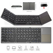 Folding Bluetooth Keyboard Wireless Keypad Touchpad For iOS Android Win Phone