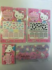 Sanrio Hello Kitty Nail Seals(2sheets) & Buffers(2pic) Japan Free Shipping!