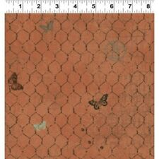 Clothworks Good to be Home  Y2242 71 Chicken Wire Cotton Fabric FREE US SHIP