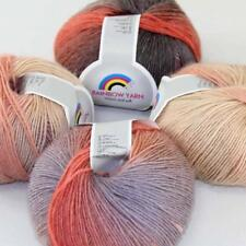 Sale New Soft Cashmere Wool Rainbow Wrap Shawl DIY Hand Knit Yarn 4ballsx50gr 03