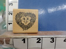 Pig in wreath Embossing Arts Rubber Stamp 3j