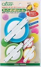 Clover Super Pom Pom Maker Set of 4 - 35mm, 45mm, 65mm and 85mm