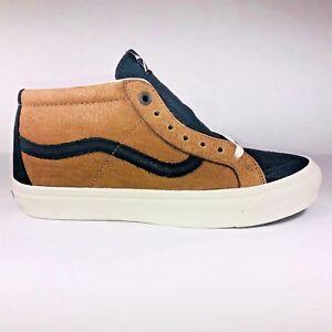 VANS Taka Hayashi OG SK8 Mid Horween Leather Bison Shoe VN0A3JP3QXU Size 8.5