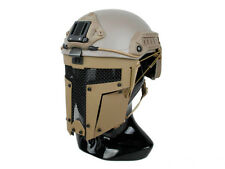 DLP Tactical Steel Full Face Mask for ACH / MICH / FAST Bump Helmet