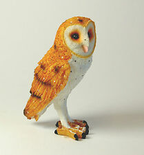 Resin Barn Owl Ornament, 13 cm