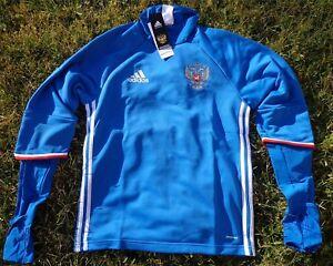 RUSSLAND RUSSIA Herren Men Trainings Top Sweater Trikot Blau ADIDAS Fussball RFU