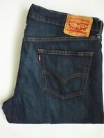 LEVI'S 559 JEANS MEN'S STRETCH RELAXED FIT STRAIGHT W36 L30 DARK BLUE  LEVQ488