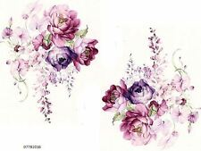 VinTaGe IMaGe XL GorGeouS LiLaC CaBbaGe RoSeS BouQueTs SHaBbY WaTerSLiDe DeCALs