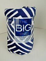 The Big One Oversized Plush Throw Blanket Blue White