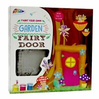 Paint Your Own Garden Fairy Tree Door Ornament Decoration Craft Create Kids 0371