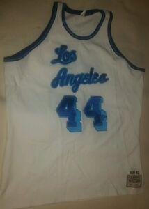 Mitchell Ness LA Lakers Basketball Jersey Hardwood Classic NBA Jerry West #44