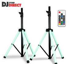2X ADJ COLOR Changing LED Speaker Stand With Integrated LED Lights With Remote