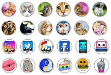 FreeStyle Libre sensors stickers, set 24 pieces of vinyl, self-adhesive circles