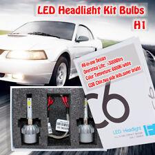 H1 Turbo LED COB Headlight Conversion Kit Bulbs 72W 7600LM 6000K White Fog White