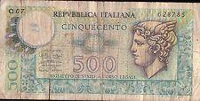 BANCONOTA DA 500 LIRE 14.02.1974 Miconi - Nardi - Fabiano  (CAR-8)