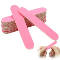 20stk Pink Nagelfeile Poliernagelpflege Fingernägelfeile Nail Art für Salon Neu