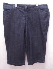 """Liz Claiborne Stretch """"Slim Power"""" Cropped Jeans Classic Fit Skinny Leg Size 22W"""