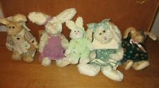 Vintage   Lot of 5  -   BOYDS BEARS    Retired Plush   HARES    with Tags