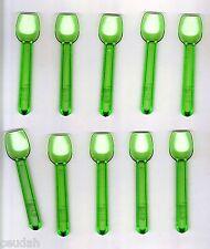 "(100) Green Gelato Ice Cream Frozen Yogurt Tasting Serving Plastic Spoons 3.75"""