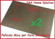 ISOLANTE FORNO MICROONDE.  2 FOGLI MICA RIGIDO 15x15 CM