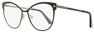 Tom Ford Blue Block Eyeglasses TF5530B 001 Black/Gold 54mm FT5530