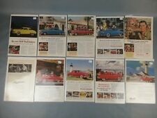 10pc Vtg Lot Orignal Studebaker Car Ad 1950's 1960's Advertising Page Auto