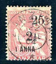 ZANSIBAR 1904 Yvert 64 gestempelt AUFDRUCKMARKE 170€(C3427