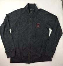 New Level Wear Texas Tech Athletics Crew Track Jacket Gray Zip Women's M Medium