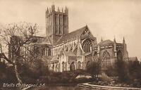 1910's VINTAGE POSTCARD -WELLS CATHEDRAL from SE - FRITH'S SERIES #23870