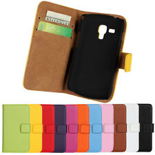 For Samsung Galaxy S Duos S7562 New Leather Wallet Case Superior Cover Protector