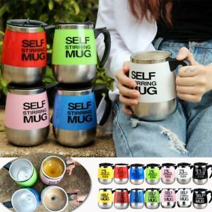 450ml Electric Stainless Steel Auto Self Stirring Coffee Mug Mixing Cup
