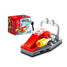 Mini Police Yacht City Function Car Building Blocks Children Toys lifeboat