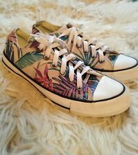 Converse Chuck Taylor All Star Tropical Floral Print Shoes Size Mens 5 Women's 7