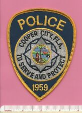 Cooper City FL State Florida Fla Defunct Police Shoulder Patch - Broward County