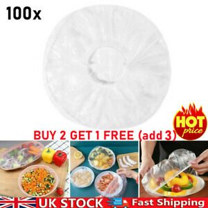 100X Dustproof Disposable Bowl Cover Fruit Food Fresh-Keeping Sealed Bags UK