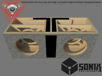STAGE 2 - DUAL PORTED SUBWOOFER MDF ENCLOSURE FOR AMERICAN BASS HD10 SUB BOX