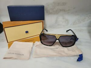 Louis Vuitton LV Evidence Sunglasses Z0350W Black Gold Sunglasses millionaire