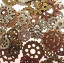 90 Steampunk Metal Gears Watch Parts Silver Brass Copper Findings Jewelry Making