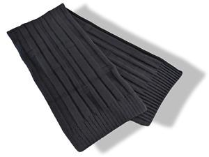 Hermes Noir 100% Cashmere H MUFFLER 40 x 200 CM, NIB