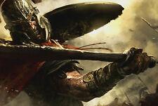 Lámina-Spartan Warrior atacar con espada (imagen Cartel Esparta De 300)
