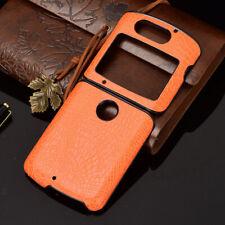 For Motorola Razr 5G Folding Slim Crocodile PU Leather Shockproof New Case Cover