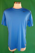 Blue NIKE Pro Combat Dri-Fit Fitted t-shirt Men's XL Training Retail $35.00