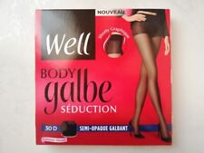 WELL BODY GALBE SEDUCTION COLLANT SEMI OPAQUE GALBANT 30 DEN TAILLE 4 NOIR