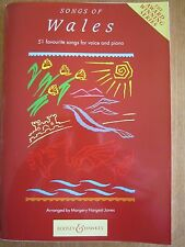 Songs of Wales for voice and piano with guitar chords *NEW* publisher B & H