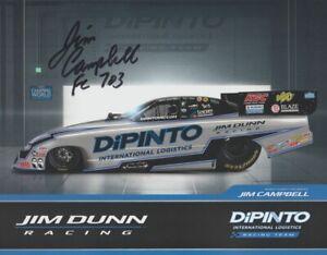 2021 Jim Campbell signed Dipinto Dodge Charger Funny Car NHRA Hero Card