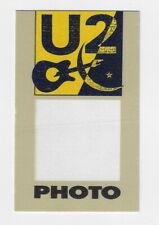 U2 / Unused Otto Satin Cloth Photo Backstage Pass !