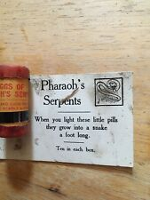 Eggs of Pharaoh's Serpents -Novelty Item - 1960s