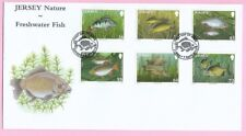 JERSEY Post 2010  FDC - NATURE - FRESHWATER FISH - Special Handstamp