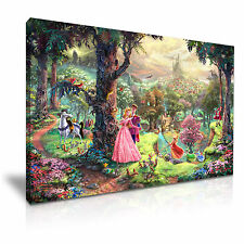 DISNEY BELLA ADDORMENTATA CARTOON MOVIE Kids CANVAS WALL ART PICTURE PRINT 76x50cm